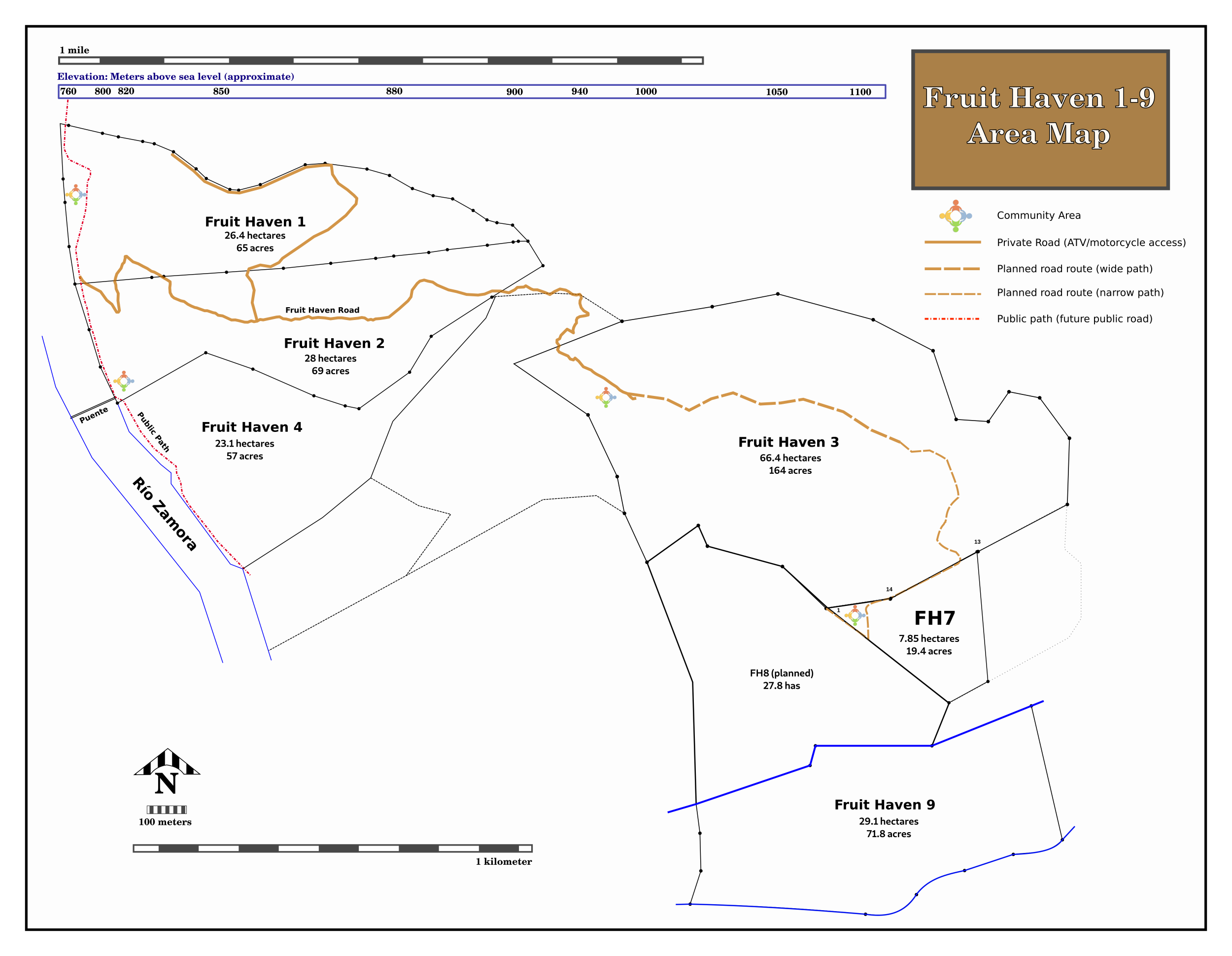 Fruit Haven area map